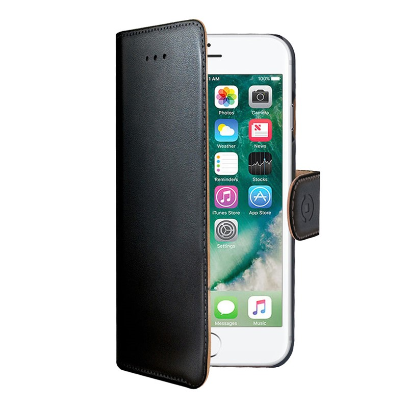 Celly Wallet Flipcover iPhone 6/6S/7/8 Black