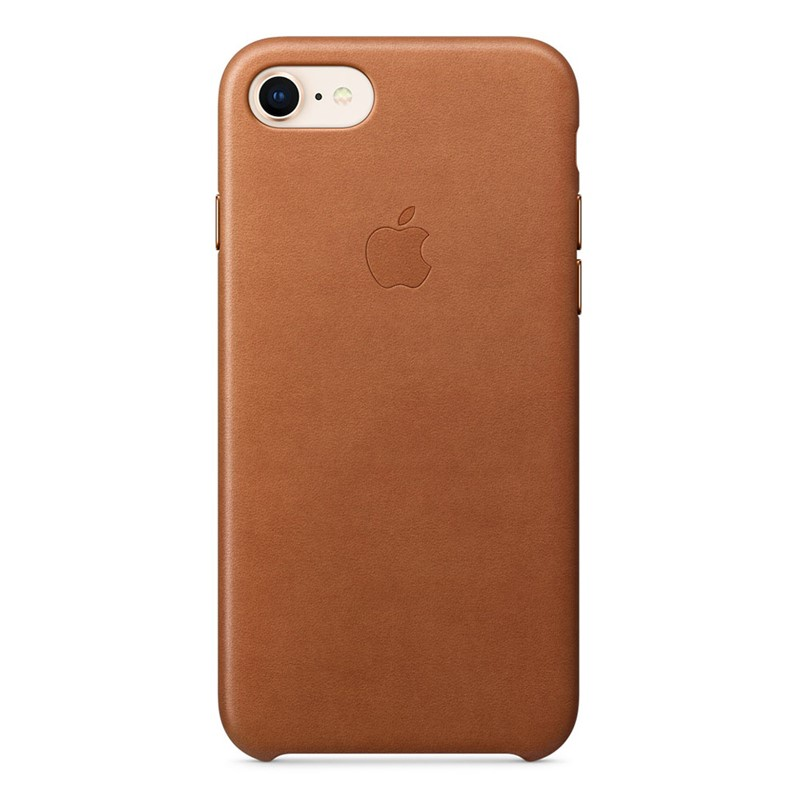 Apple iPhone 7/8 Leather Case Saddle Brown