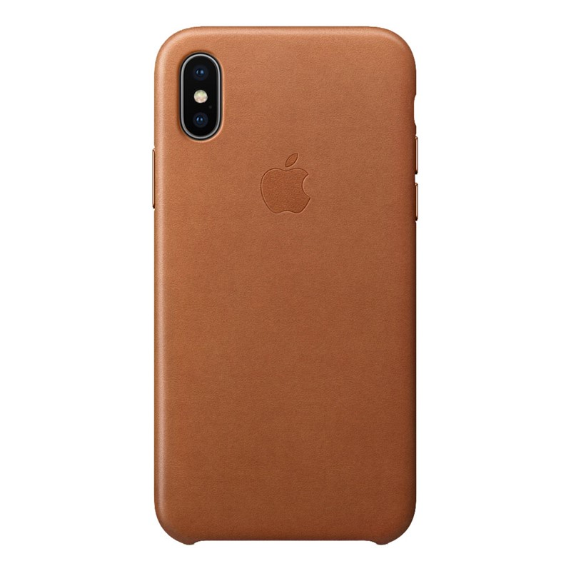 Apple iPhone X Leather Case Saddle Brownn