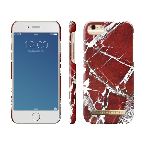 iDeal of Sweden, iDeal Fashion Case, Red Marble iPhone 6/6S/7/8 (1)