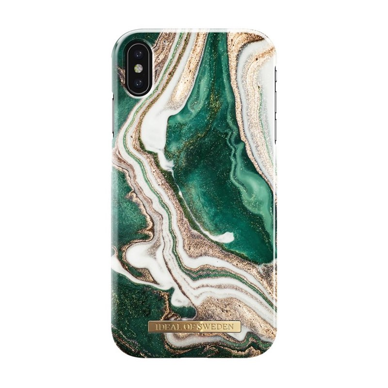 iDeal of Sweden, Fashion Case, Golden Jade Marble iPhone XS Max