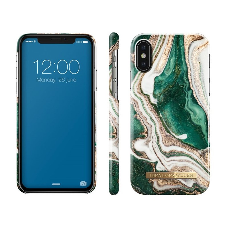 iDeal of Sweden, Fashion Case, Golden Jade Marble iPhone X