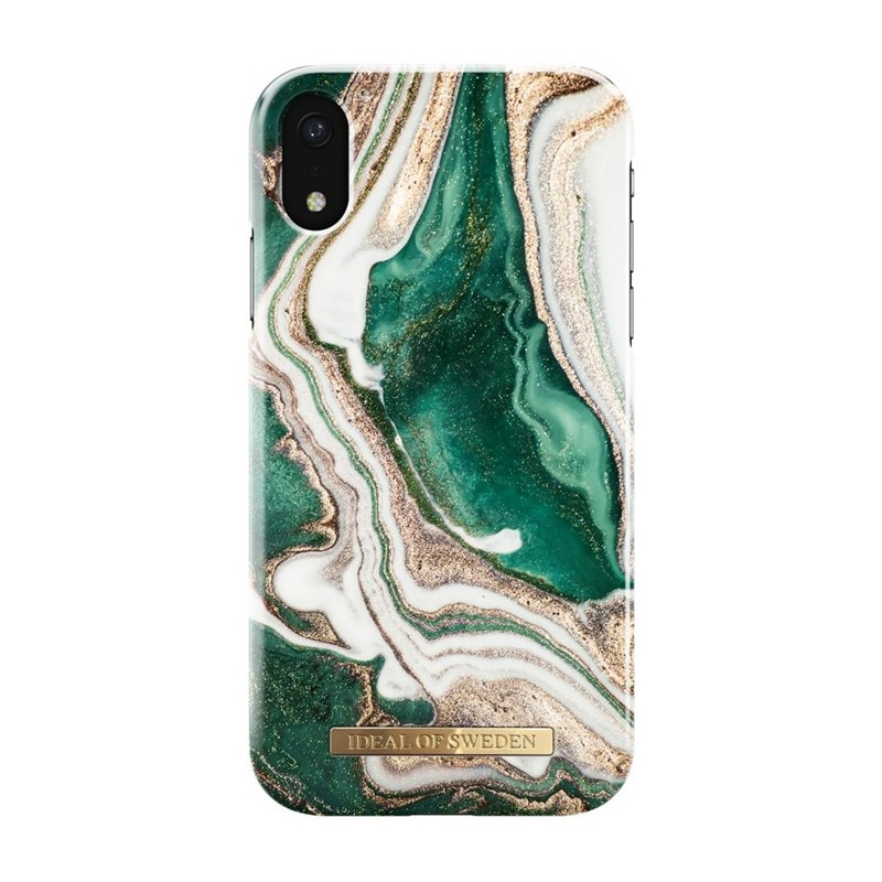 iDeal of Sweden, Fashion Case, Golden Jade Marble iPhone XR
