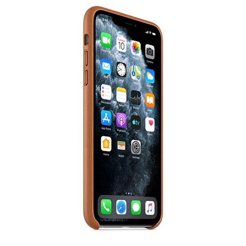 Apple iPhone 11 Pro Max Leather Case -  Saddel Brown 2.jpg