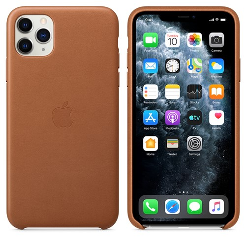 Apple iPhone 11 Pro Max Leather Case -  Saddel Brown 3.jpg