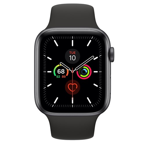 Apple Watch Series 5 44mm + Cellular Space Grey Alu Case - Black Sport Band