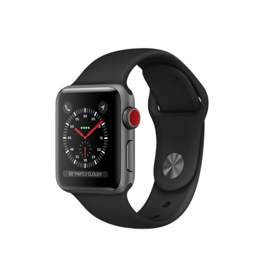 Apple Watch S3 Cellular 38mm Black Band