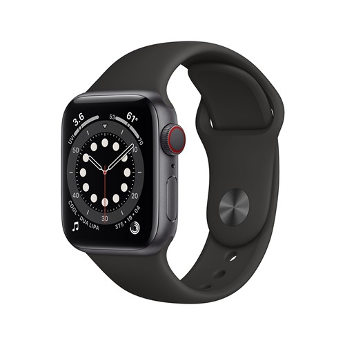 Apple Watch Series 6 40mm Alu Space Gray + Cellular Black Band