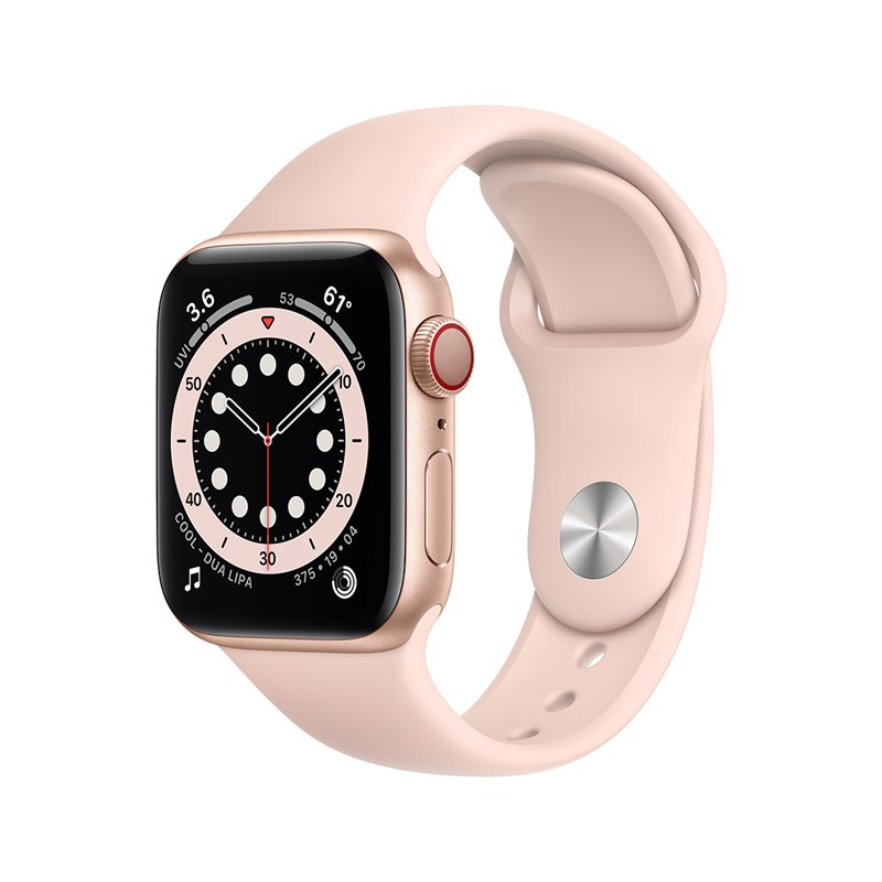 Apple Watch Series 6 40mm Alu Gold + Cellular Pink Sand Band